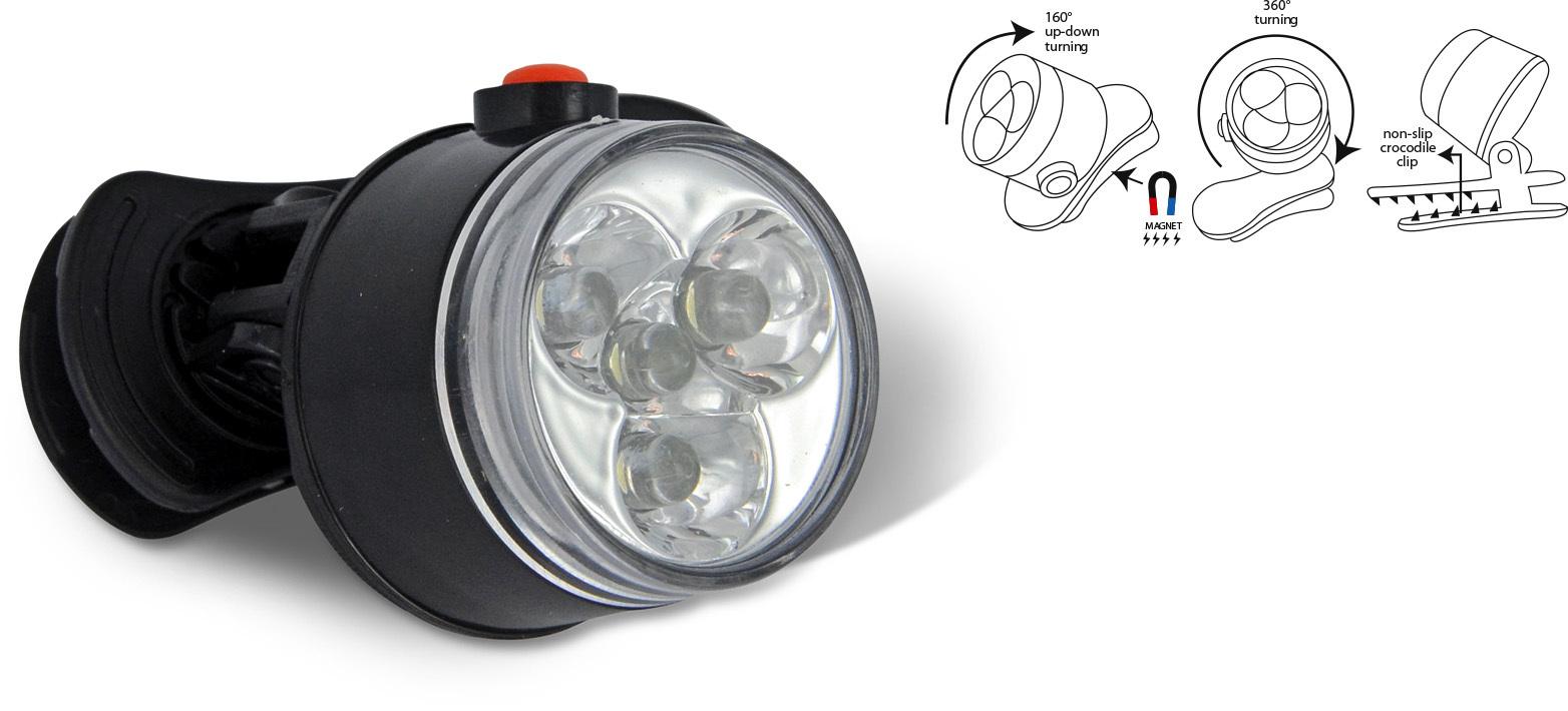 zebco led leuchte zum anklemmen campinglampe zeltlampe klemmlampe. Black Bedroom Furniture Sets. Home Design Ideas