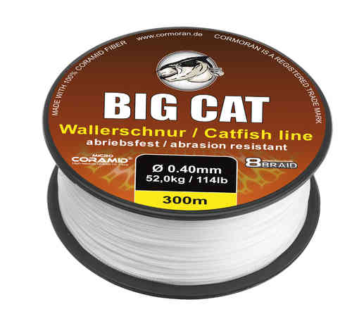 CORMORAN - BIG CAT 8-BRAID CATFISH - Geflochtene CORAMID Spezialschnur/Wallerschnur