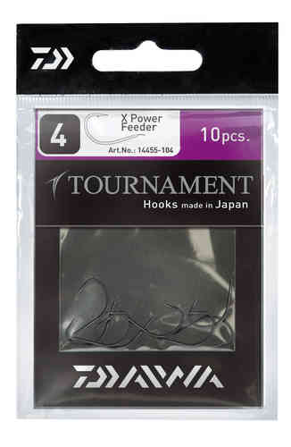 DAIWA - TOURNAMENT X-Power Feederhaken, Einzelhaken Modell 14455