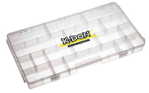 CORMORAN - K-DON Gerätebox 1008 - 40x22x3,7cm - Tackle Box für Angelkoffer 1007