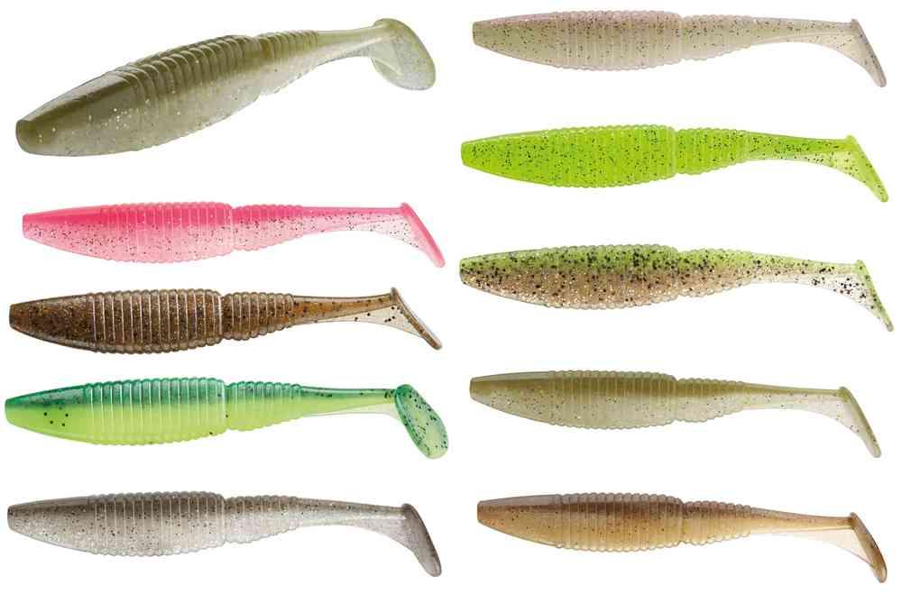 SKINNY KICK DAIWA 10 Stück Gummifisch//Miniköder in 7 Farben 6cm//1g