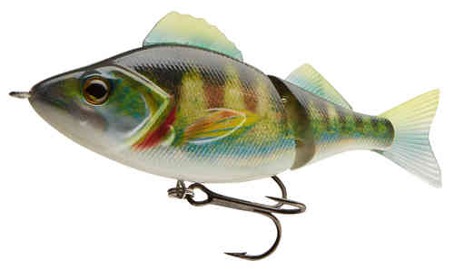 TEAM CORMORAN ME-RA PERCH Realfish 2-teiliger Swimbait Wobbler sinkend 11cm 24g