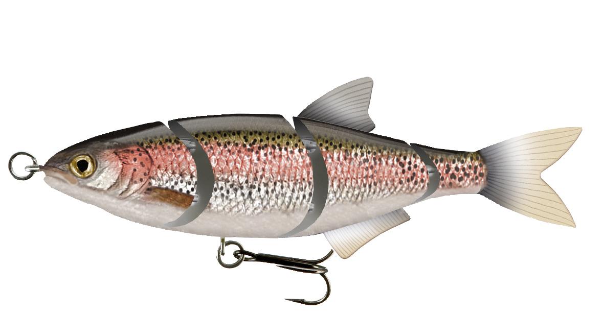 TEAM CORMORAN ME-RA PERCH Realfish 2-teiliger Swimbait Wobbler sinkend 11cm 24g