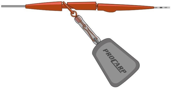 sand Cormoran PRO CARP SmartRig Farbe Safety Lead Clip 5er Set