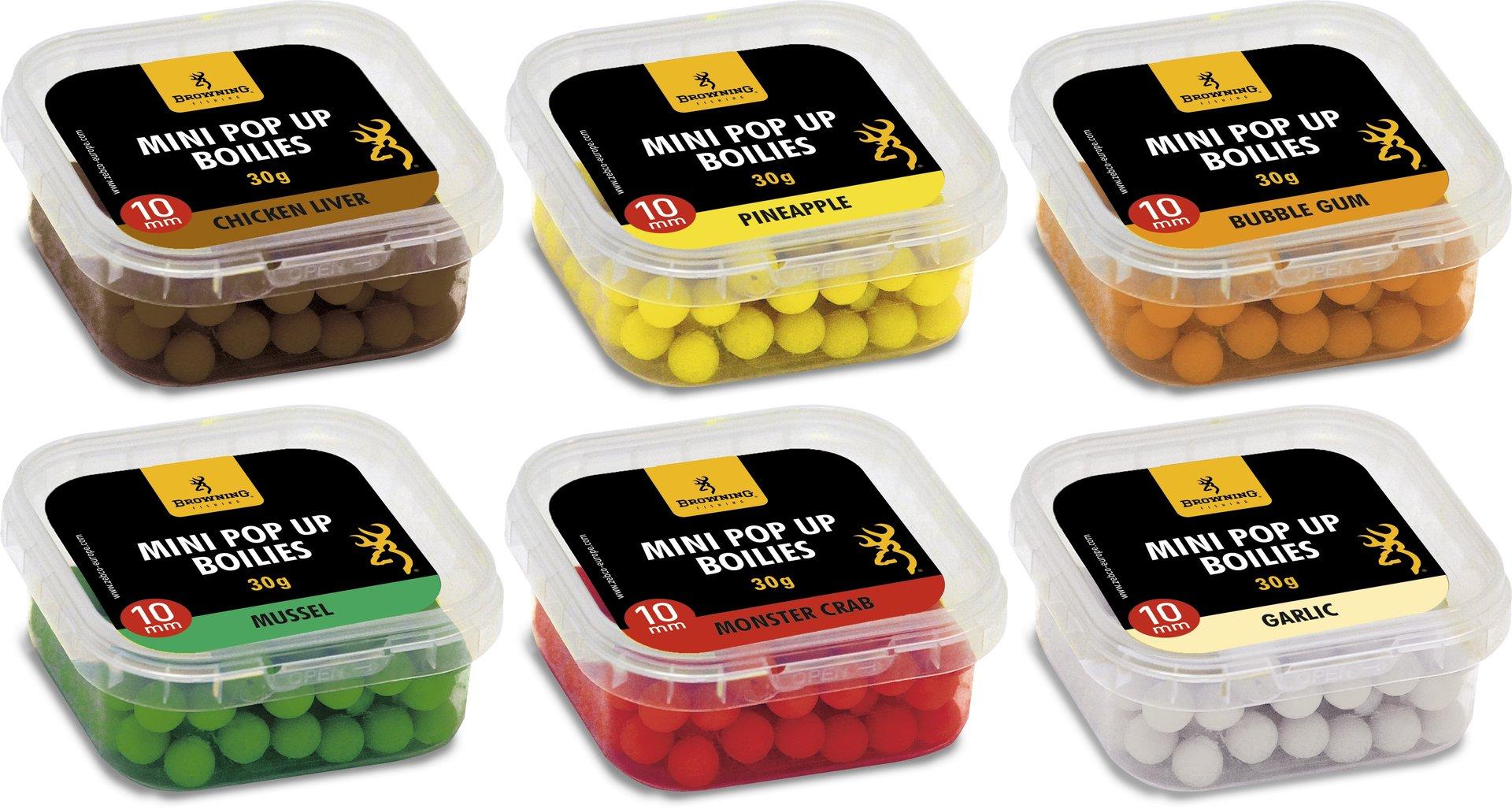 BROWNING Mini Pop Up Boilie 30g vorgebohrt 10mm Bubble Gum 18,17 EUR//100gr